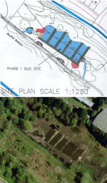 Compare the plan with an aerial photo of the lagoons